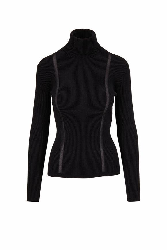 Tom Ford Black Stretch Cashmere Turtleneck Sweater