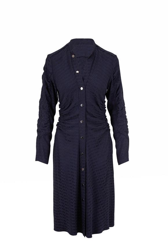 Dorothee Schumacher Navy I Love You So Long Sleeve Dress