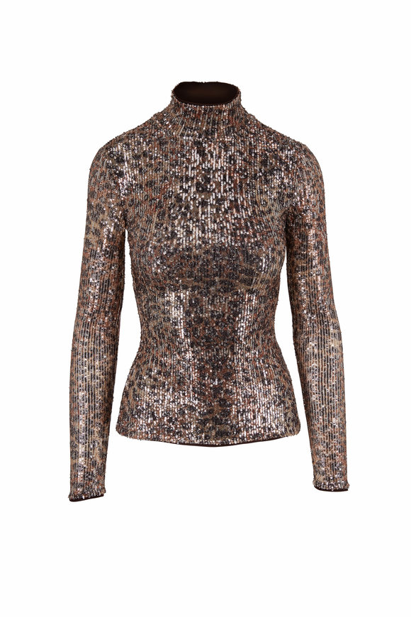 Jonathan Simkhai Greta Multi Speckle Persian Cat Turtleneck