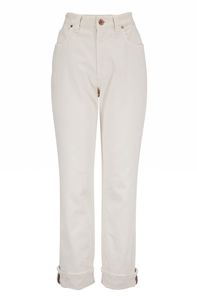 Brunello Cucinelli - Sand Stretch Cotton Straight Leg Jean