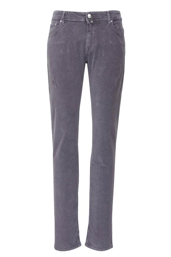 Jacob Cohen  Slate Blue Five Pocket Corduroy Pant