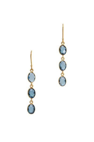 Loriann - 18K Yellow Gold Drop Earrings