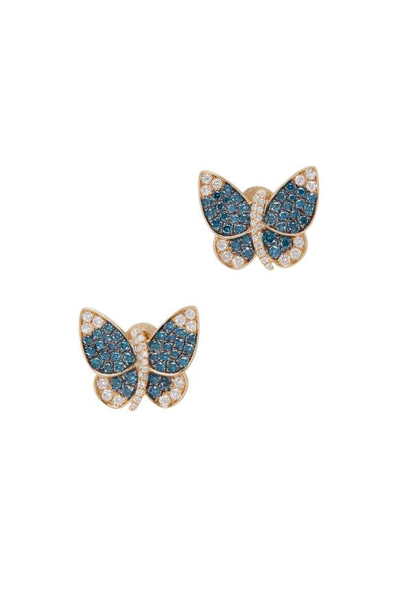 Loriann 14K Yellow Gold Butterfly Stud Earrings