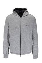 Ermenegildo Zegna - Navy & Gray Reversible Hooded Windbreaker