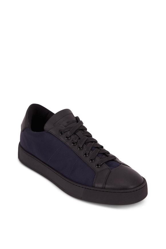 Santoni Richard Navy Blue Nylon Sneaker
