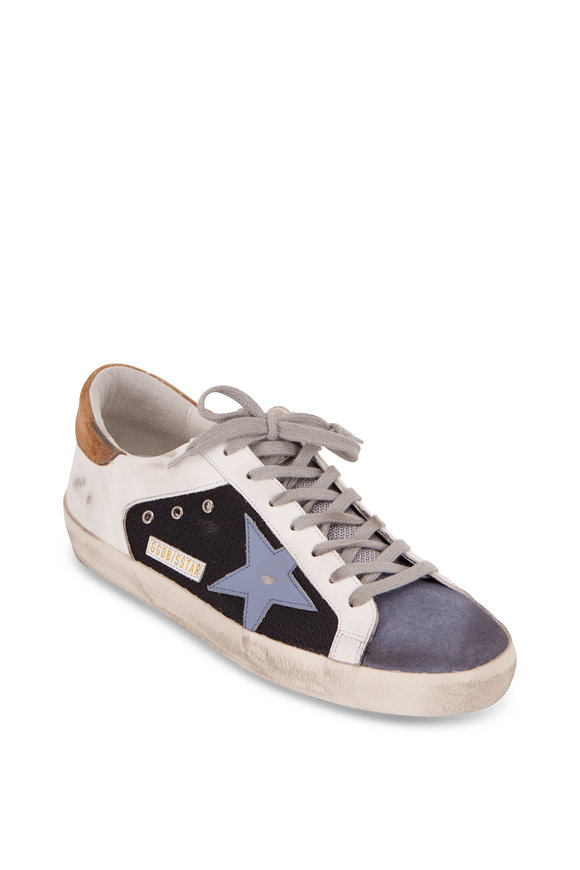 Golden Goose Superstar Black,White & Gray Leather Sneaker