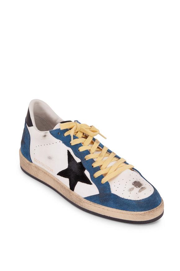 Golden Goose Ball Star Blue & White Leather Sneaker
