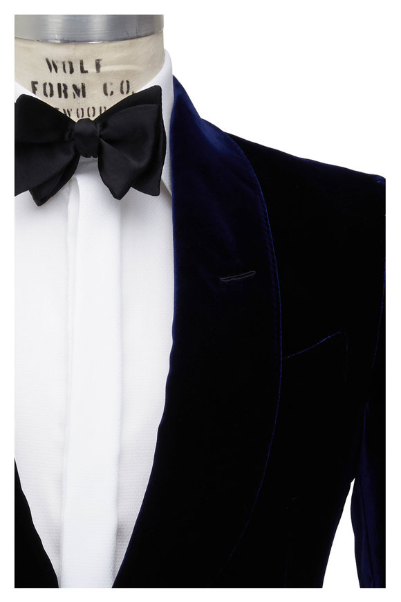 Tom Ford Deep Purple Velvet Dinner Jacket
