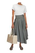 Brunello Cucinelli - Mush Cotton Pleated Midi Skirt