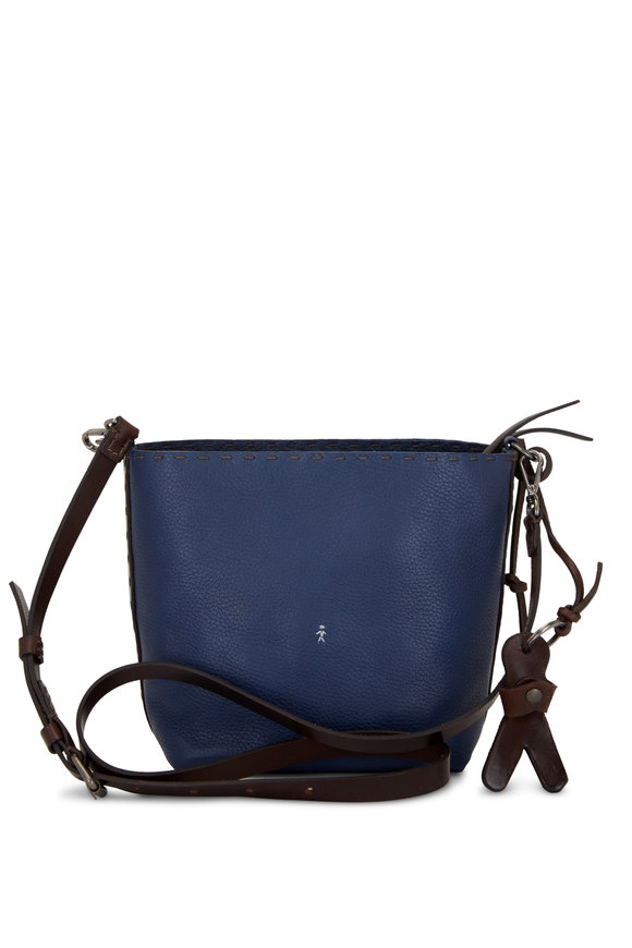 Henry Beguelin Cuoio Margherita Navy Leather Crossbody