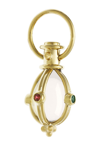 Temple St. Clair - Gold Crystal Ruby Emerald Sapphire Pendant