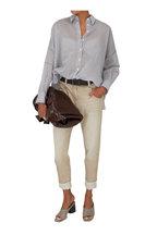 Brunello Cucinelli - Brown Raffia & Leather Belt