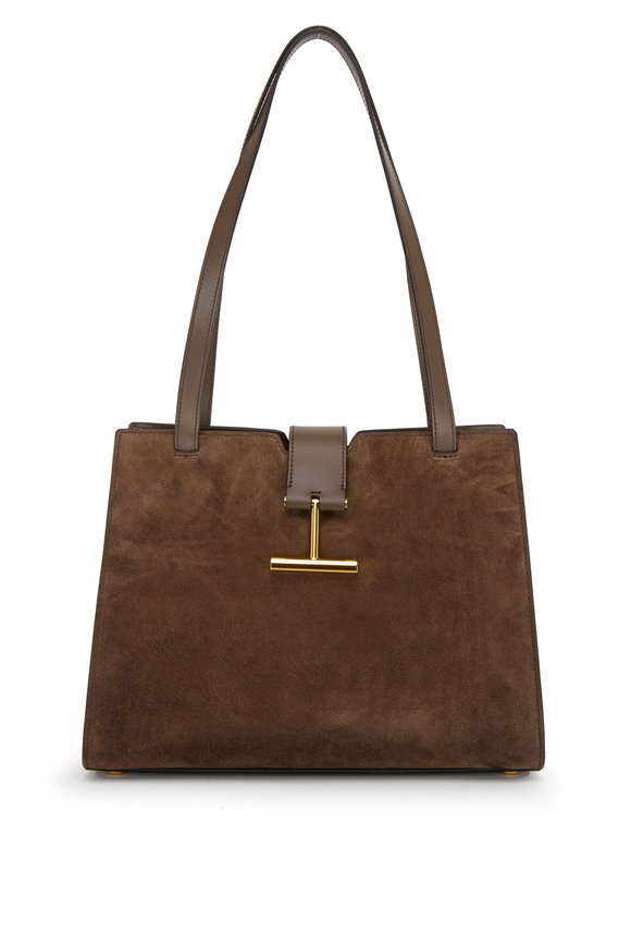 Tom Ford Tara Brown Suede Medium Shoulder Bag