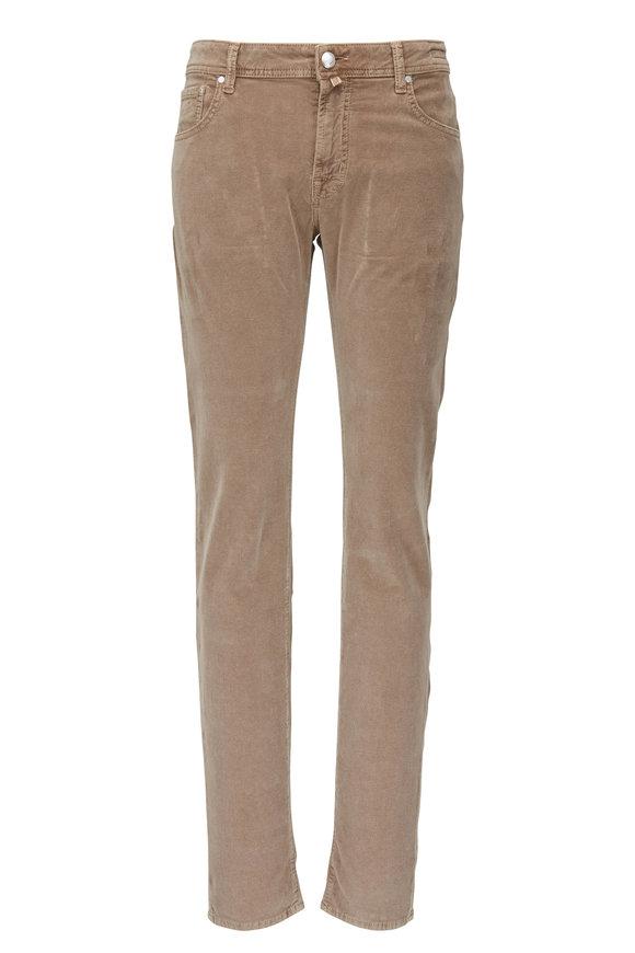Jacob Cohen  Tan Five Pocket Corduroy Pant
