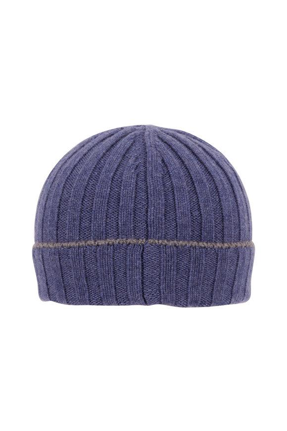 Brunello Cucinelli Dark Blue Cashmere Hat
