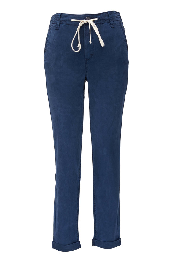 PAIGE Christy French Waters Blue Drawstring Pant