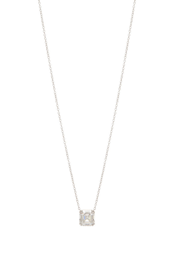 Lowy & Co White Gold Diamond Pendant Necklace