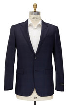 Ermenegildo Zegna - Navy & Brown Windowpane Wool & Silk Suit