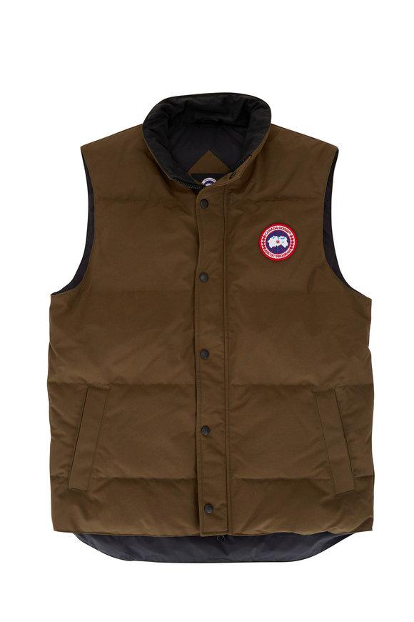 Canada Goose Garson Olive Down Puffer Vest