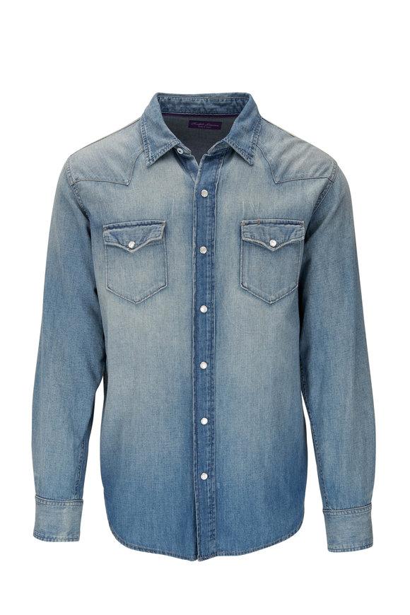 Ralph Lauren Light Indigo Denim Western Shirt