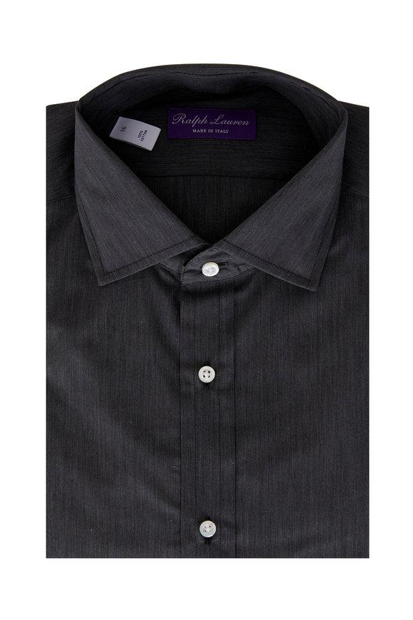 Ralph Lauren Solid Charcoal Gray Sport Shirt