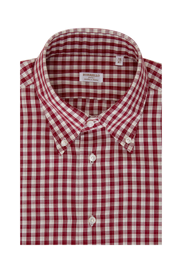 Borriello Berry Check Dress Shirt