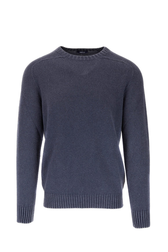 04651/ Foggy Navy Cashmere Crewneck Pullover