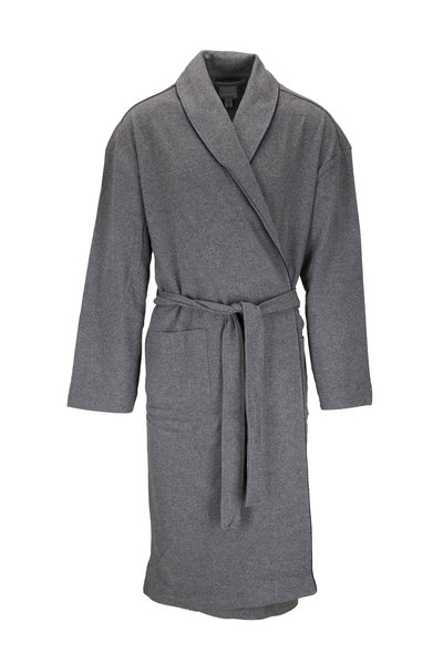 Majestic - Gray Knit Belted Robe