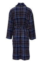 Majestic - Blue Plaid Plush Fleece Robe