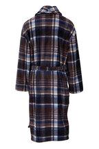 Majestic - Indigo Plaid Plush Fleece Robe