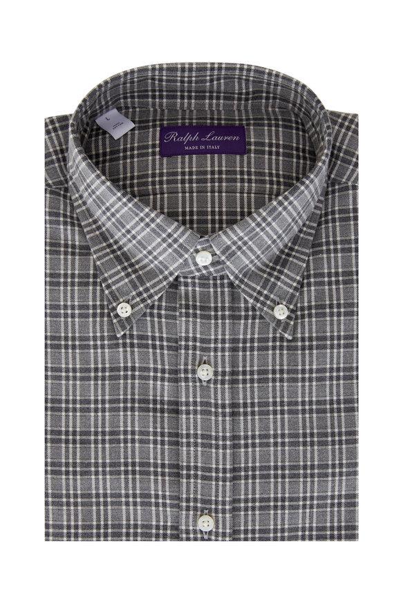 Ralph Lauren Gray Plaid Sport Shirt