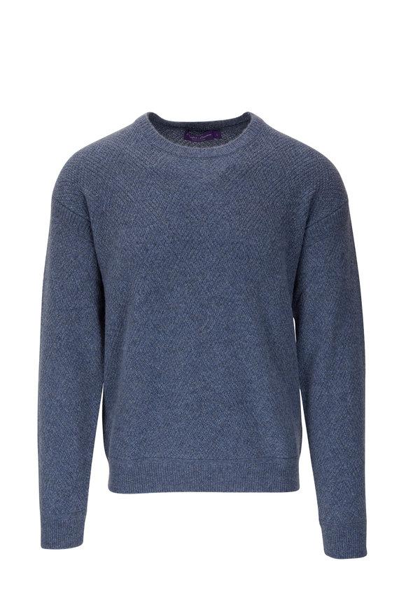 Ralph Lauren Blue Cashmere Crewneck Pullover