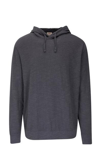 Faherty Brand - Graphite Slub Cotton Hoodie