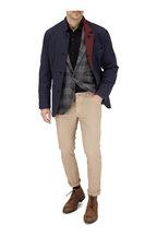 Brunello Cucinelli - Navy & Maroon Reversible Quilted Jacket
