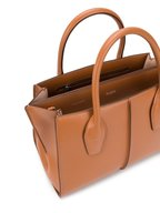 Tod's - Manici Cognac Leather Medium Shopper Tote