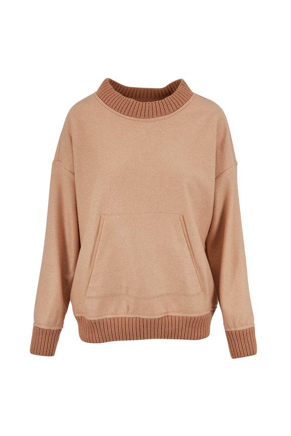 Kiton Camel Cashmere Sweatshirt