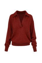 Khaite - Jo Mahogany Stretch Cashmere Sweater
