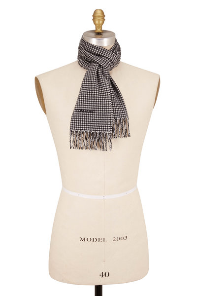 Tom Ford - Black & White Houndstooth Scarf