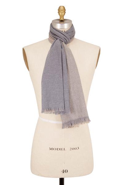 Eton - Gray & Tan Wool Scarf