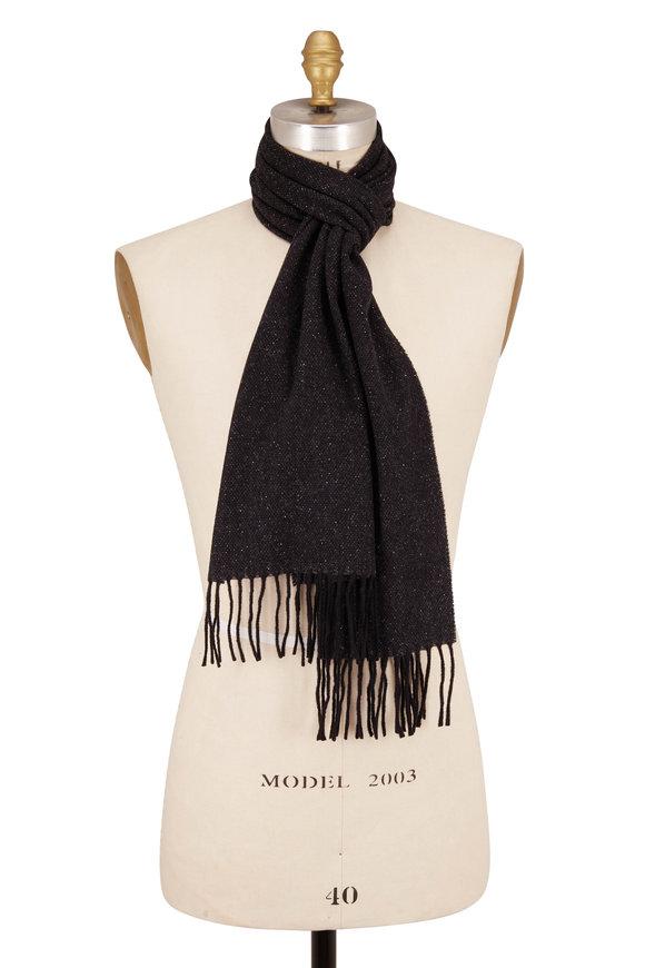 Eton Donegal Charcoal Gray Wool & Silk Scarf