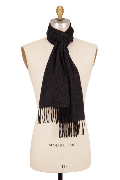 Eton - Donegal Charcoal Gray Wool & Silk Scarf
