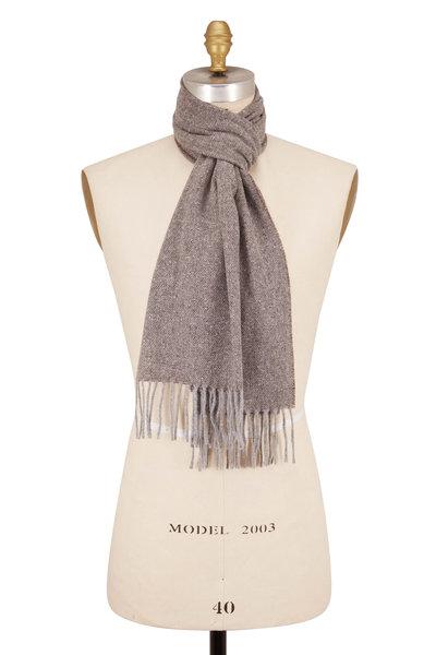 Eton - Donegal Tan Wool & Silk Scarf