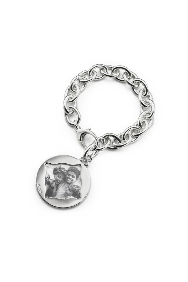 Sterling Silver Vine Detail Picture Frame Bracelet