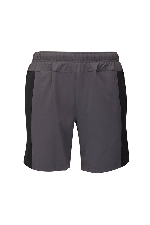 Fourlaps Bolt Charcoal Gray Performance Shorts