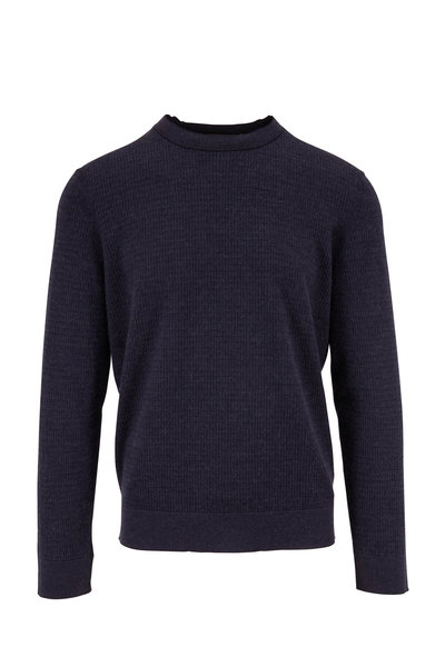 Ermenegildo Zegna - Navy Textured Knit Sweater