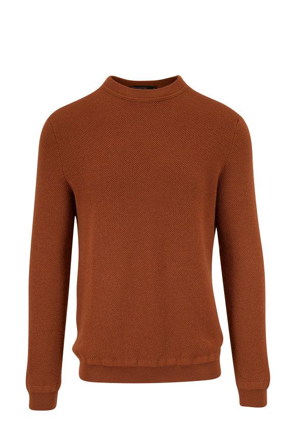 Ermenegildo Zegna Copper Wool & Cashmere Crewneck Pullover