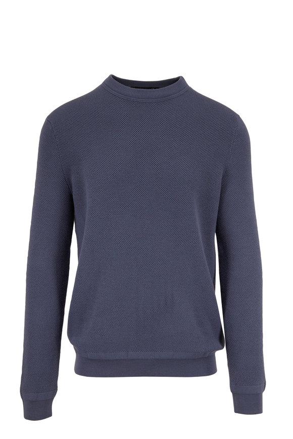 Ermenegildo Zegna Light Blue Wool & Cashmere Crewneck Pullover