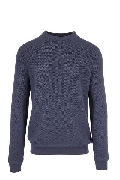 Ermenegildo Zegna - Light Blue Wool & Cashmere Crewneck Pullover