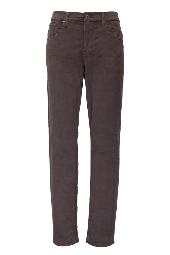 Hudson Clothing Black Concrete Corduroy Slim Straight Jean