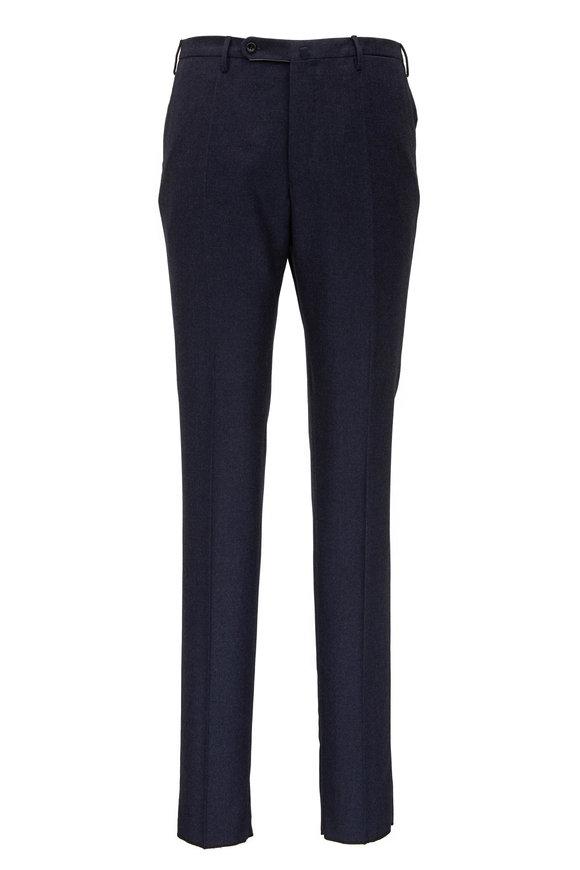 Incotex Navy Blue Wool Dress Pant